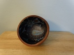Small Painted Wood Bowl